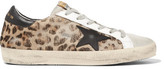 Golden Goose Deluxe Brand Super Star Distressed Leather-paneled Calf Hair Sneakers - Leopard print