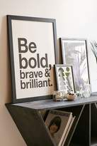 Urban Outfitters AngelStar Forever Be Bold, Brave & Brilliant Art Print