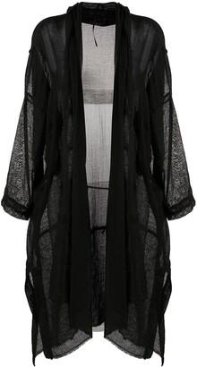 Masnada Sheer Asymmetric Coat