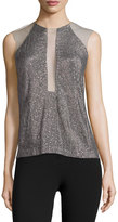 Kaufman Franco Sleeveless Embellished Top, Carbon