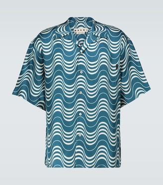 Marni Psycho Wave printed silk shirt