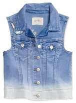 Jessica Simpson Peace-Patches Denim Vest, Big Girls (7-16)