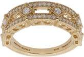 Judith Ripka 14K Gold Diamond Band Ring