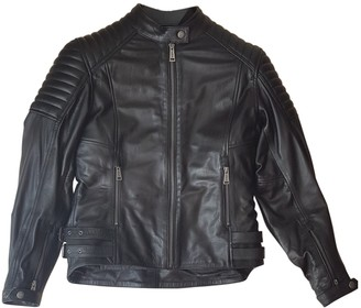 Chevignon Black Leather Coat for Women