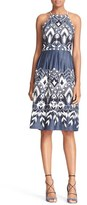 Parker Women's 'Alana' Embroidered Cotton Fit & Flare Dress