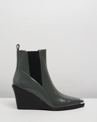 Senso Women's Grey Wedge Boots - Weston II - Size One Size, 37 at The Iconic