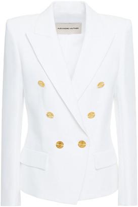 Alexandre Vauthier Double-breasted Cotton-blend Grain De Poudre Blazer