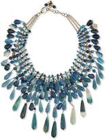 Rosantica Beaded Agate Statement Necklace