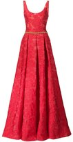 Marchesa rose pattern gown - women - Polyester - 4