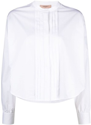 Twin-Set Pleated Front Shirt