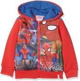 DC Comics Spiderman Crime Fighter,Boy's Hooded Sweatshirt, Red