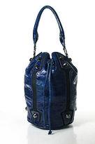 Vince Camuto Blue Leather Two Tone Large Hobo Handbag