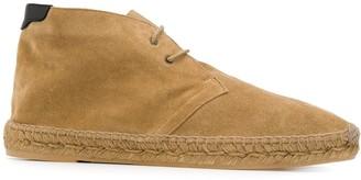 Saint Laurent espadrille-style Desert boots
