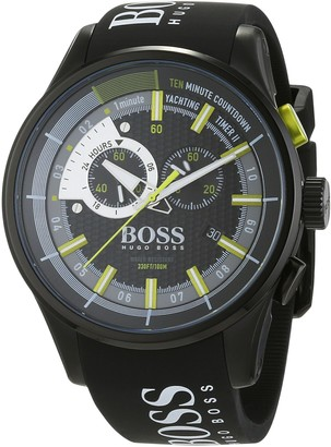 HUGO BOSS Men's Chronograph Quartz Watch with Silicone Strap 1513337