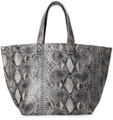 Street Level Grey Snake-Effect Large Tote