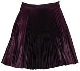 Karen Millen Burgundy Pleated Skirt