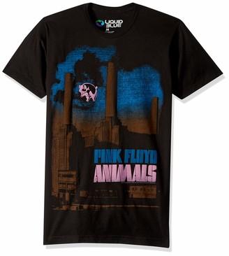 Liquid Blue Unisex-Adult's Pink Floyd Pig Stain Short Sleeve T-Shirt