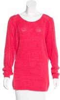 Rachel Zoe Open Knit Paneled Sweater