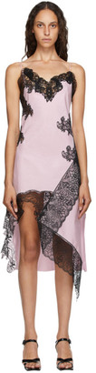 Marques Almeida Pink Lace Slip Dress