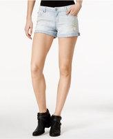 Vanilla Star Juniors' Ripped Empire Sun Wash Denim Shorts