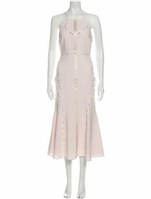 Cinq à Sept Square Neckline Long Dress w/ Tags Pink