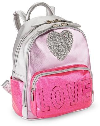 Bari Lynn Metallic Heart Backpack