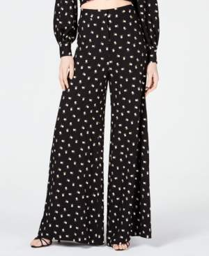 Jill Stuart Embroidered Wide-Leg Pants