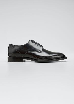 Fendi Men's Faded FF Leather Derby Shoes