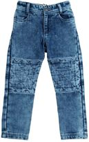 Little Marc Jacobs Bleached Denim Effect Cotton Pants