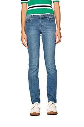 Esprit Women's 998ee1b821 Straight Jeans, (Blue Light Wash 903), W25/L30 (Size: 25/30)