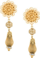 Dolce & Gabbana filigree drop clip-on earrings