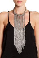 Stephan & Co Multi Strand Chain Fringe Necklace