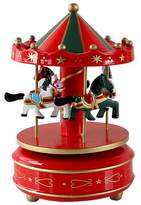 Acme Windup Melody Merry-go-round Carousel Musical Box for Christmas Birthday Party Gift?Red
