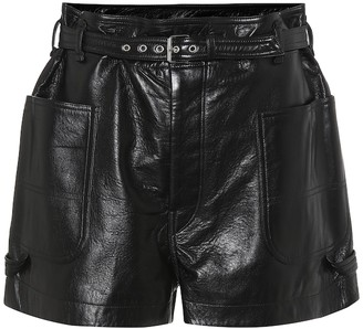 Isabel Marant Xike high-rise leather shorts