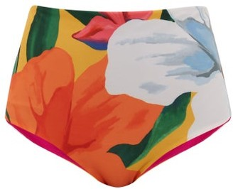 Mara Hoffman Lydia Floral-print High-rise Bikini Briefs - Womens - Multi