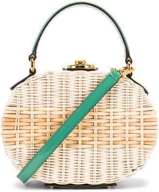 Mark Cross Gianna Oval Box Bag in Celadon | FWRD