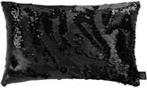 Aviva Stanoff Two Tone Mermaid Sequin Cushion - Matt/Shiny Black - 30x45cm