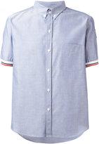 Moncler Gamme Bleu tri-colour trim short sleeve shirt