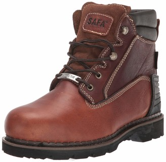 "AdTec SAFA Men's 6"" Steel Toe Work Boots Oiled Leather Oil Resistant Contruction Boot Brown 9.5 W US"