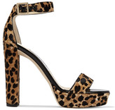 Jimmy Choo Holly Leopard-print Calf Hair Platform Sandals - Leopard print