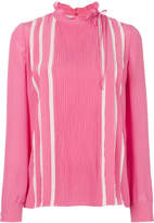 Valentino ruffle neck blouse