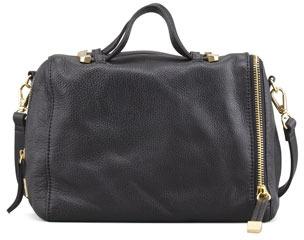 Halston Baby Pebbled Satchel Bag, Black (Stylist Pick!)