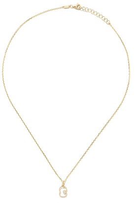 As 29 14kt yellow gold diamond Eight necklace