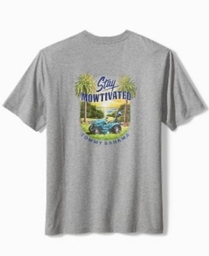 Tommy Bahama Men's Stay Mowtivated Graphic Cotton T-Shirt