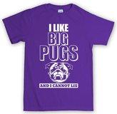 Customised Perfection I Like Big Pugs Dog Puppy T Shirt XL