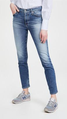 Mari High Rise Slim Straight Jeans