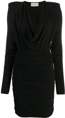 Alexandre Vauthier V-neck short jersey dress