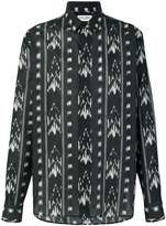 Saint Laurent abstract patterned shirt