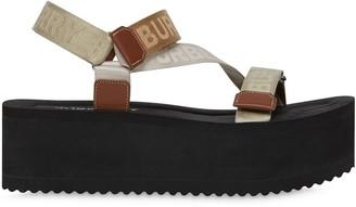 Burberry Logo Jacquard Platform Sandals