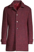 Isaia Speckled Cashmere Overcoat